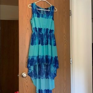 High Low Tie Dye Dress